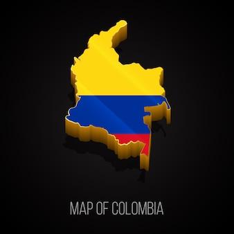 Carte 3d de la colombie