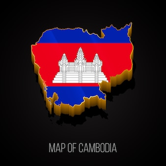 Carte 3d du cambodge