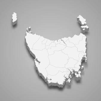 Carte 3d de l'état de l'australie