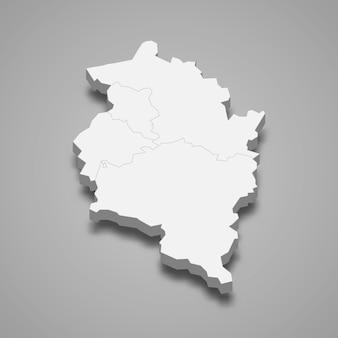 Carte 3d de l'état d'autriche