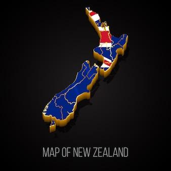 Carte 3d de la nouvelle-zélande
