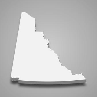 Carte 3d de la province du canada