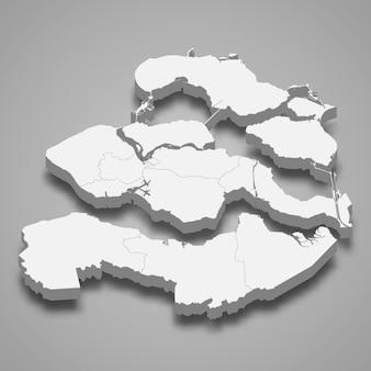 Carte 3d de la province des pays-bas