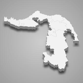 Carte 3d de la région de la russie