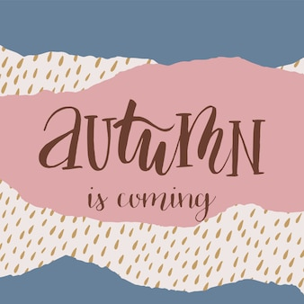 Carte abstraite automne