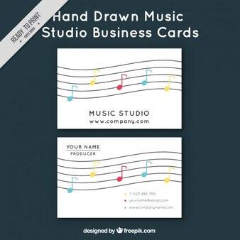 Carte d'affaires avec des notes de musique
