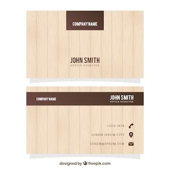 Carte d'affaires avec la texture du bois