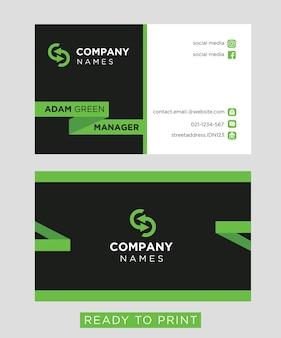 Carte d'affaires vert