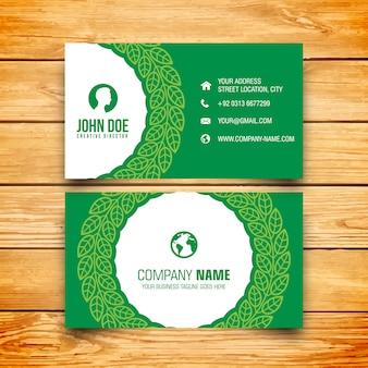 Carte d'affaires verte d'entreprise