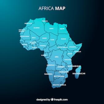 Carte de l'afrique dans le style plat