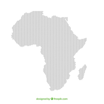 Carte de l'afrique avec des points de couleurs