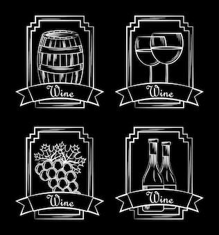 Carte d'alcool de vin