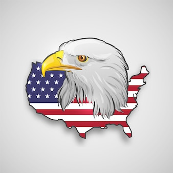 Carte américaine avec aigle