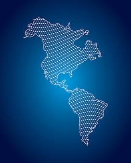 Carte de l'amérique latine