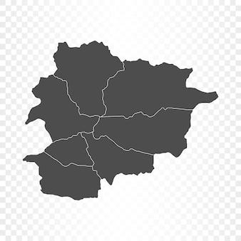 Carte d'andorre isolée sur transparent