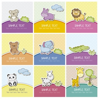 Carte animaux mignons