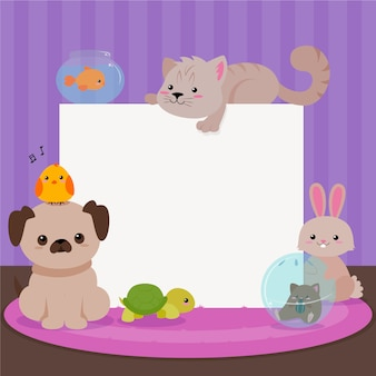Carte d'animaux mignons