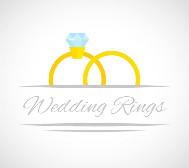 Carte anneaux de mariage