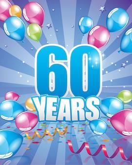 Carte d'anniversaire de 60 ans