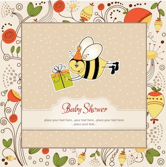 Carte d'anniversaire avec abeille