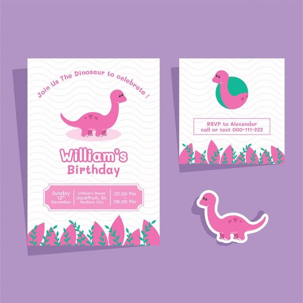Carte d'anniversaire de brontosaure
