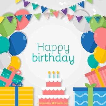 Carte d'anniversaire coloré avec du papier ondulé