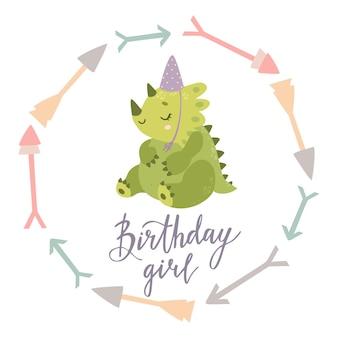 Carte d'anniversaire dinosaure