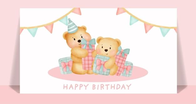 Carte d'anniversaire avec licorne mignonne tenant l'étoile.