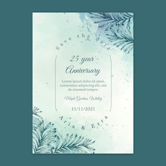 Carte d'anniversaire de mariage de 25 ans