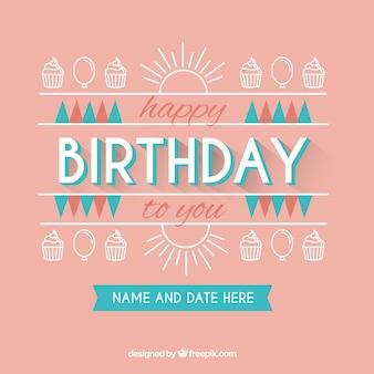 Carte d'anniversaire mignon