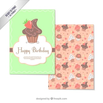 Carte d'anniversaire de petit gâteau