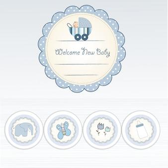 Carte d'annonce de bébé garçon