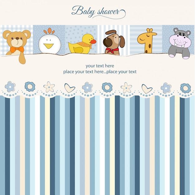 Carte d'annonce de douche de bébé