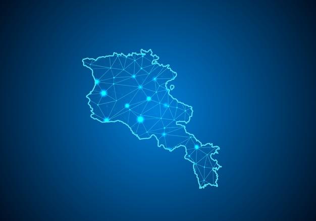 Carte de l'arménie.