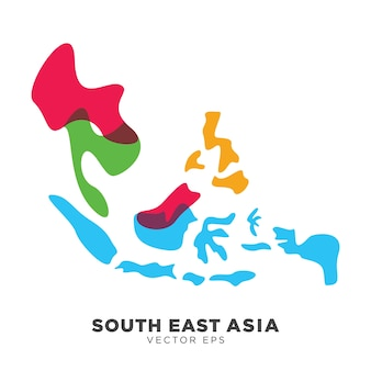 Carte asie du sud-est créative