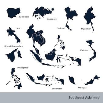 Carte de l'asie du sud-est