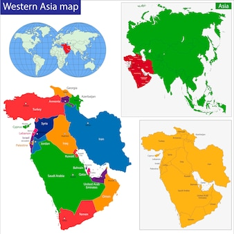 Carte de l'asie occidentale