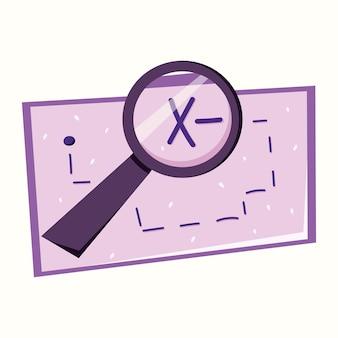 Carte au trésor. recherche de trésor. illustration vectorielle dans un style plat
