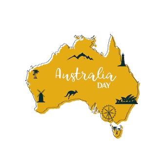 Carte de l'australie.