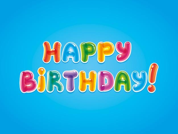 Carte ballon joyeux anniversaire