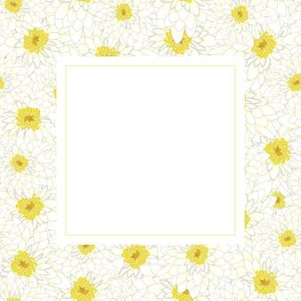 Carte de bannière de chrysanthème blanc