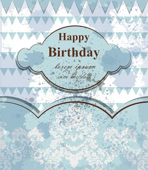 Carte de bébé joyeux anniversaire