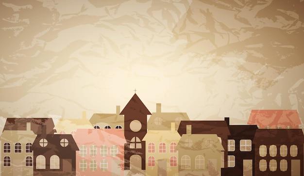 Carte avec une belle petite ville. illustration vectorielle
