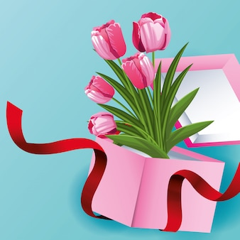 Carte de belles fleurs