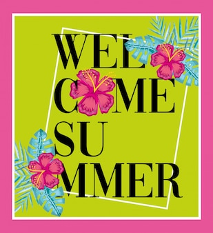 Carte de bienvenue d'été