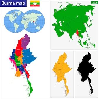 Étonnant Carte De La Birmanie   Vecteur Premium JA-77