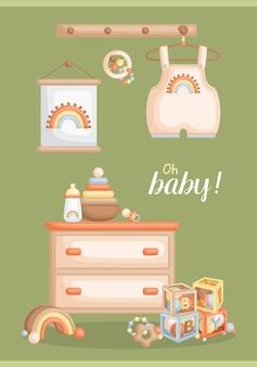 Carte boho bébé garçon