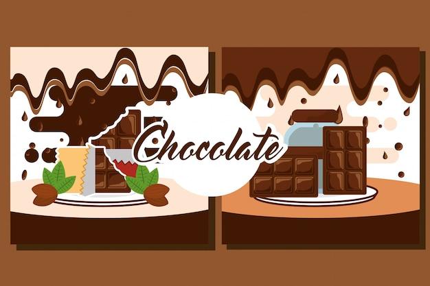 Carte de bonbons au chocolat
