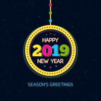 Carte de bonne année 2019 saisons salutations
