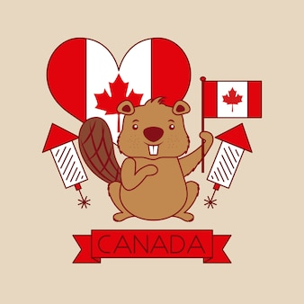 Carte de bonne fête du canada